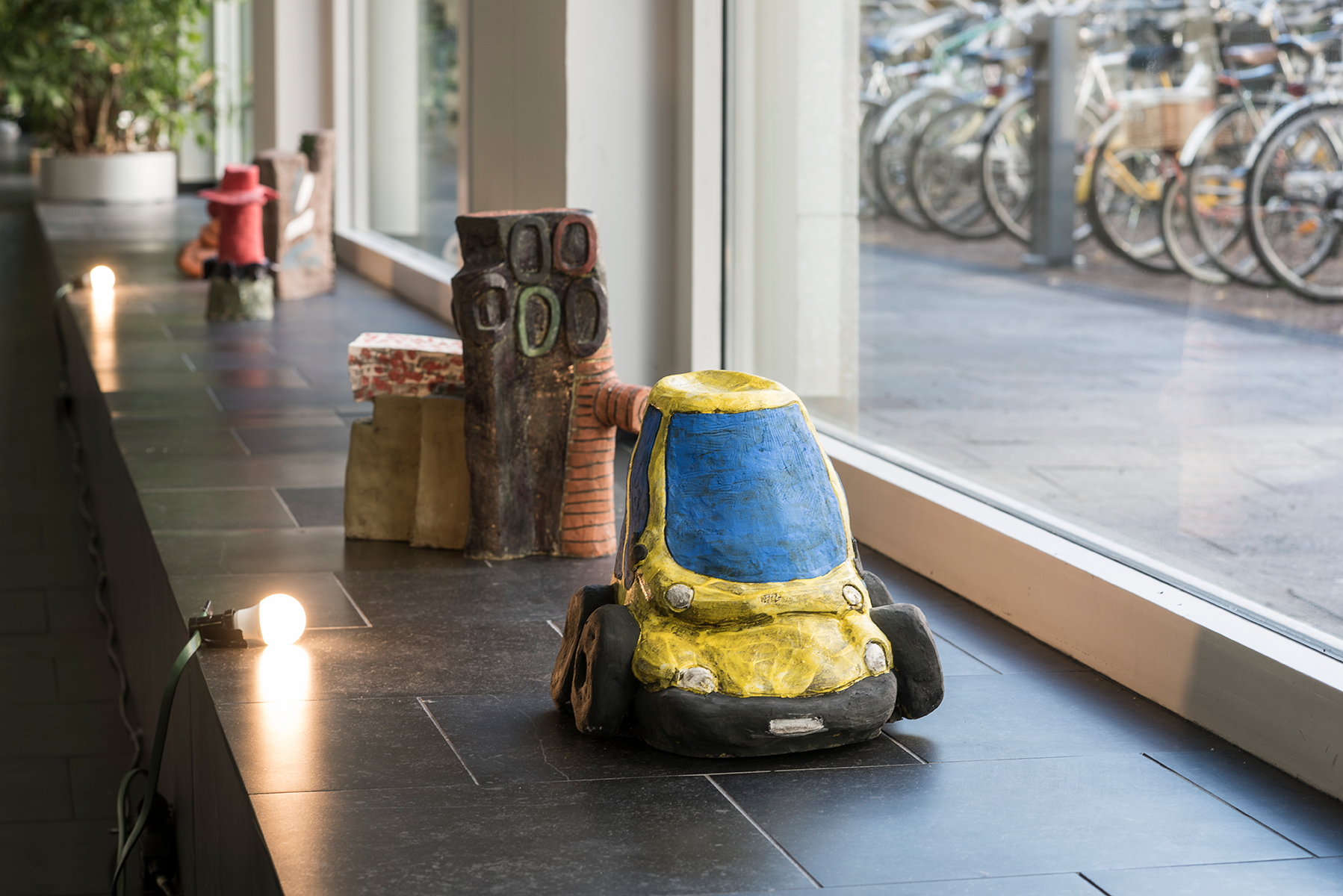 John Henshaw, Bolzano feels; Multipla99 2; both glazed ceramic, both 2016