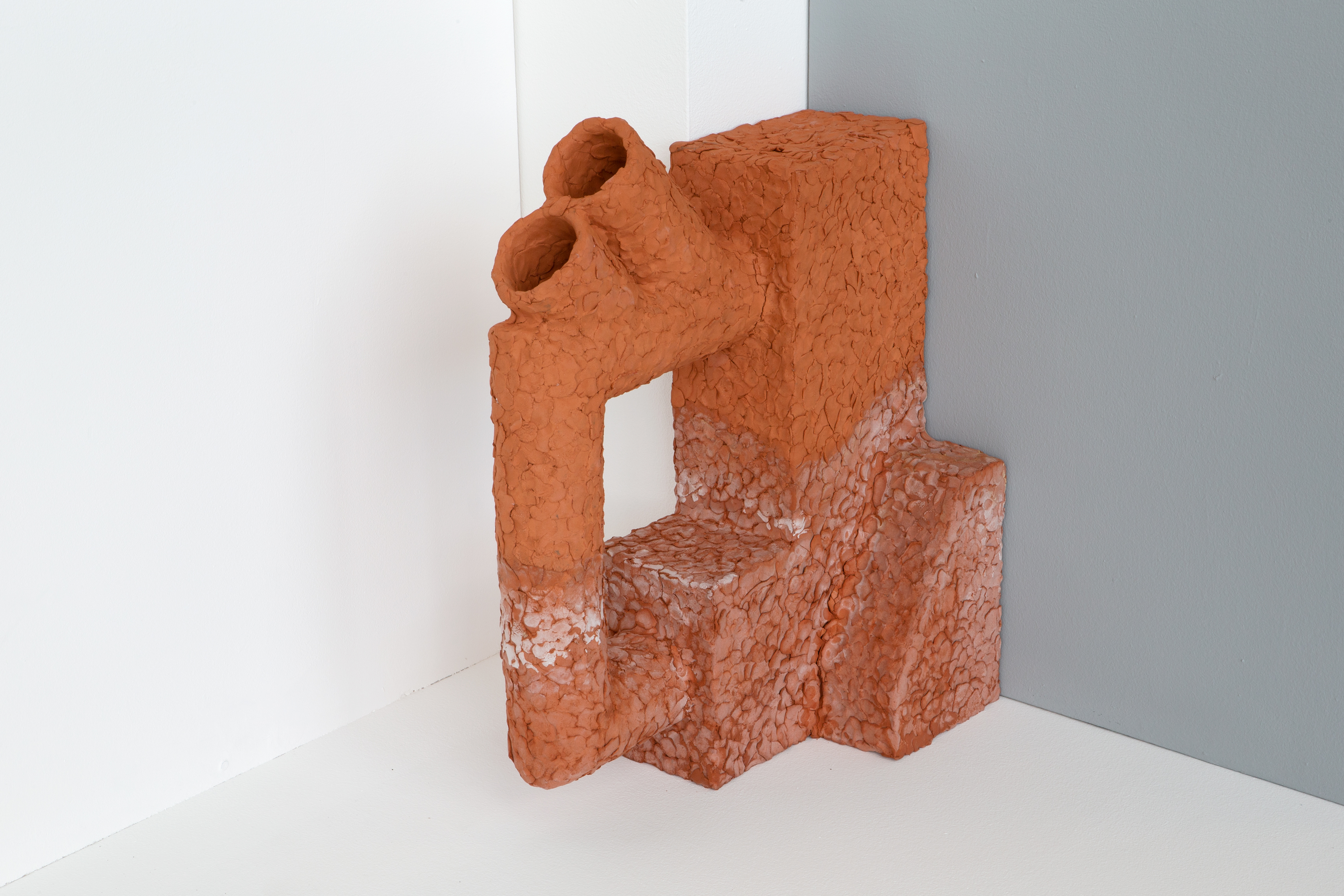 Laurence Sturla, He Preferred a Cleaner Sky (IV), 2019, unglazed earthenware clay, salt, 50 x 70 x 20 cm