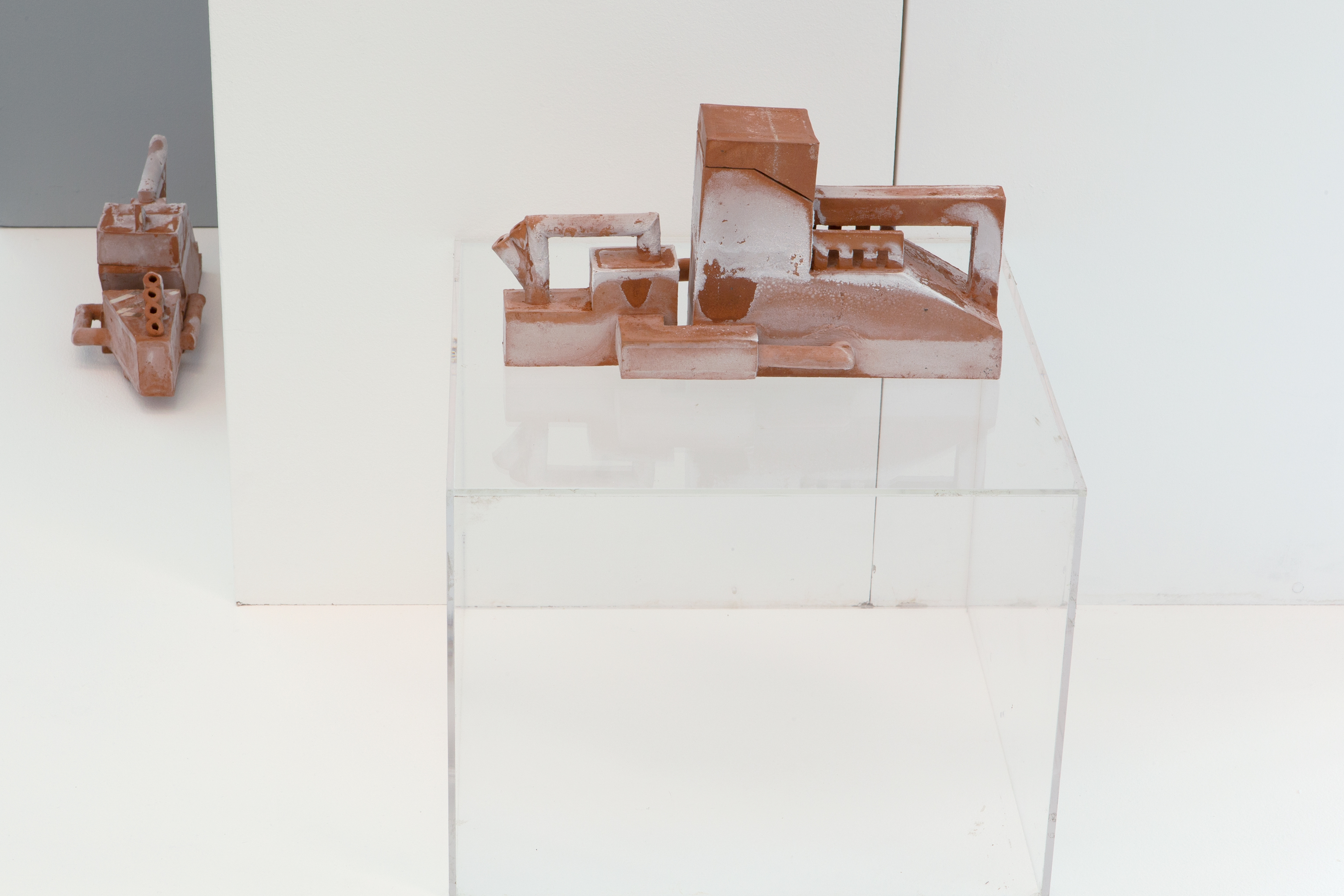 Laurence Sturla, At the Clearway, 2019, unglazed earthenware clay, salt, 12 x 34 x 17 cm